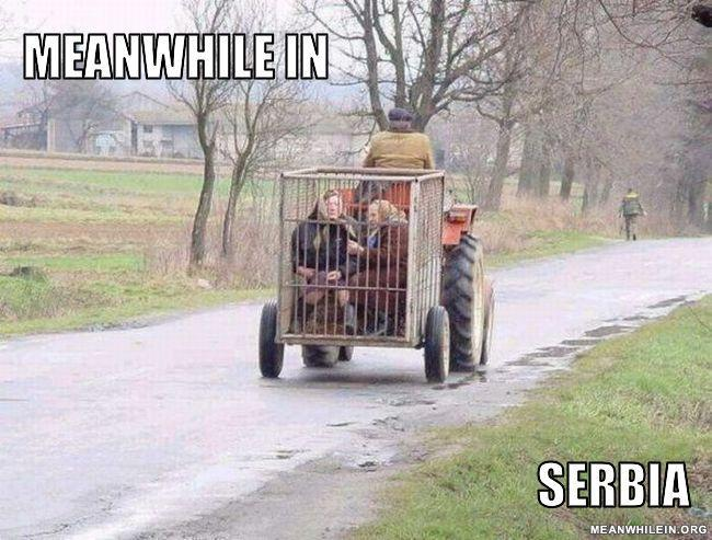 - oh those Serbs. Always keeping people prisoner.
